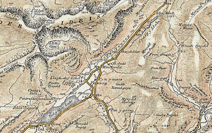 Old map of Afon Fawnog in 1902-1903