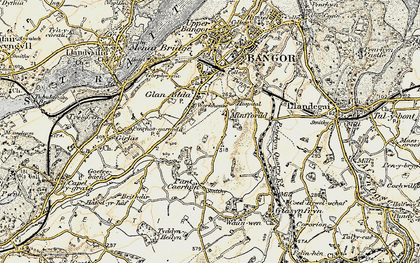 Old map of Minffordd in 1903-1910