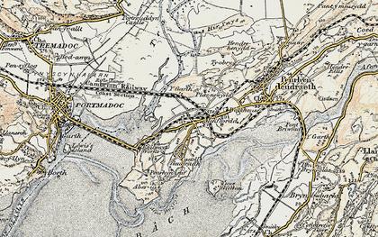 Old map of Ynys Gifftan in 1903