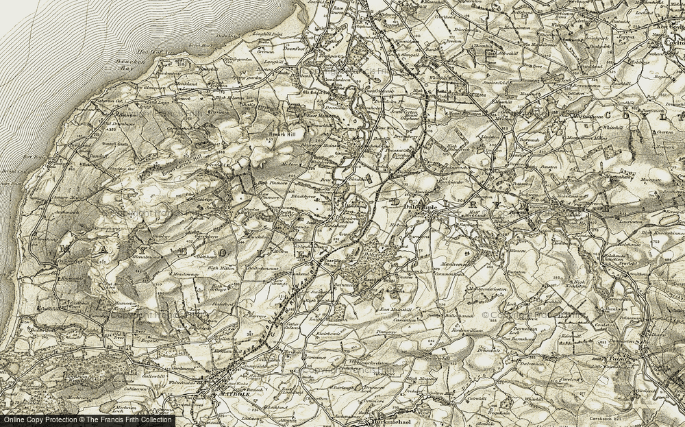 Old Map of Historic Map covering Auchendrane in 1904-1906