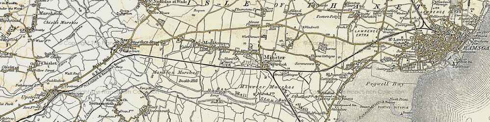 Old map of Abbot's Wall in 1898-1899