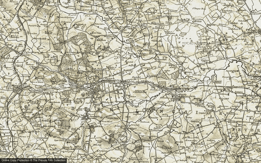Old Map of Historic Map covering Baluss in 1909-1910