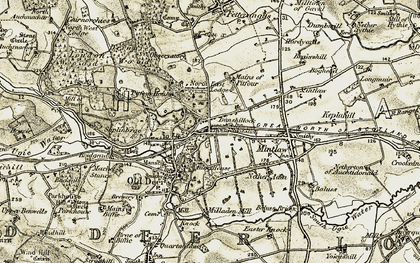 Old map of Aden Country Park in 1909-1910