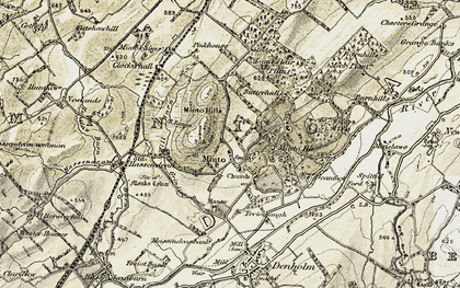 Old map of Minto in 1901-1904