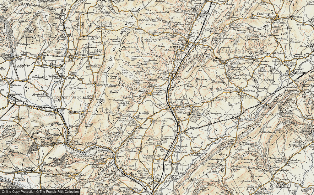 Old Map of Historic Map covering Oakwood in 1902-1903