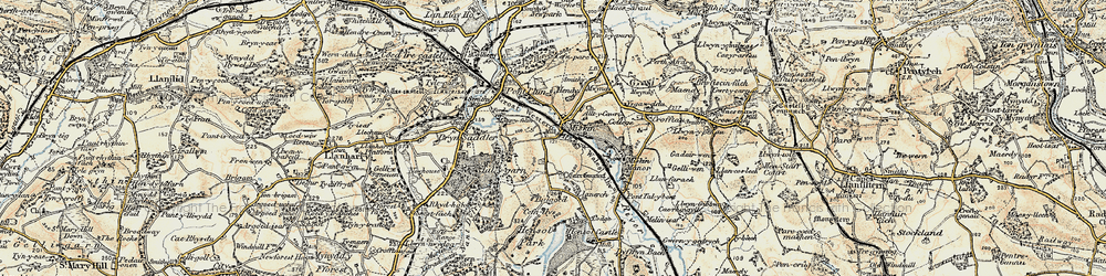 Old map of Miskin in 1899-1900