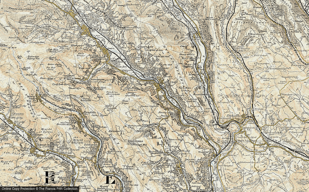 Old Map of Miskin, 1899-1900 in 1899-1900
