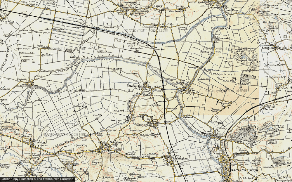 Old Map of Misterton, 1903 in 1903