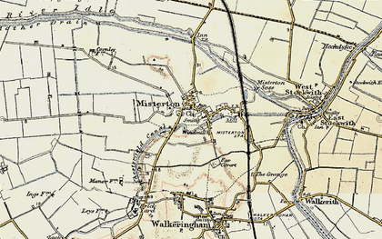 Old map of Misterton in 1903