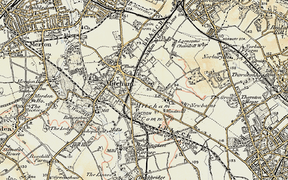 Old map of Mitcham in 1897-1909