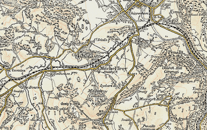 Old map of Mitchel Troy in 1899-1900