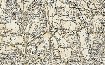 Old map of Mitcheldean in 1899-1900