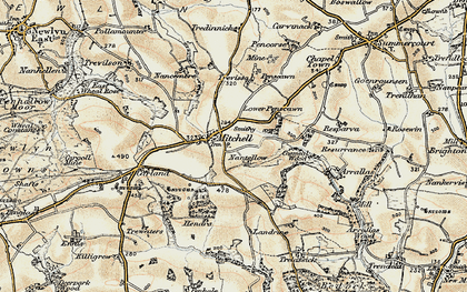 Old map of Mitchell in 1900