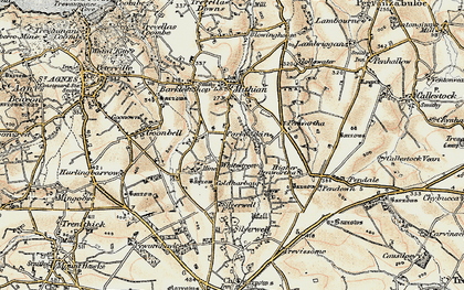 Old map of Mithian Downs in 1900