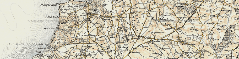 Old map of Whitestreet in 1900