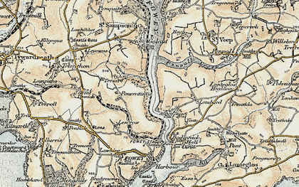 Old map of Mixtow in 1900