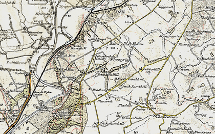 Old map of Liddel Strength in 1901-1904