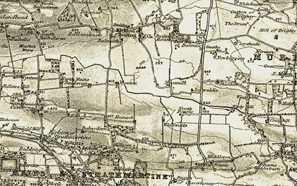 Old map of Whitewalls in 1907-1908