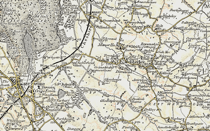 Old map of Mobberley in 1902-1903