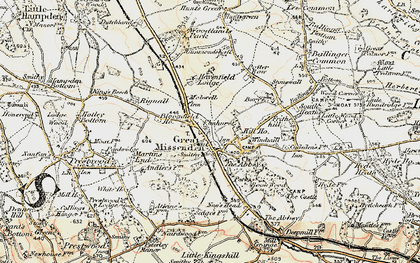 Old map of Mobwell in 1897-1898