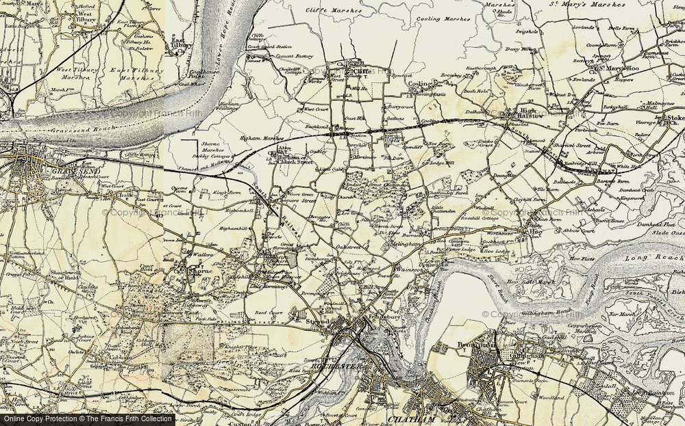 Old Map of Historic Map covering Lee Green in 1897-1898