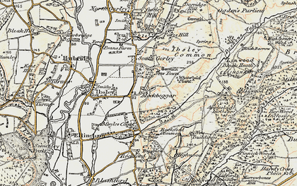 Old map of Whitefield Plantn in 1897-1909