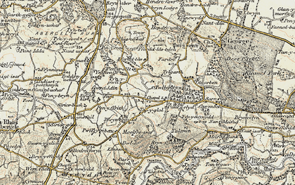 Old map of Ysgeirallt in 1902-1903