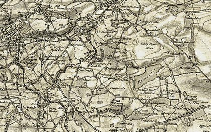 Old map of Wester Dunsyston in 1904-1905