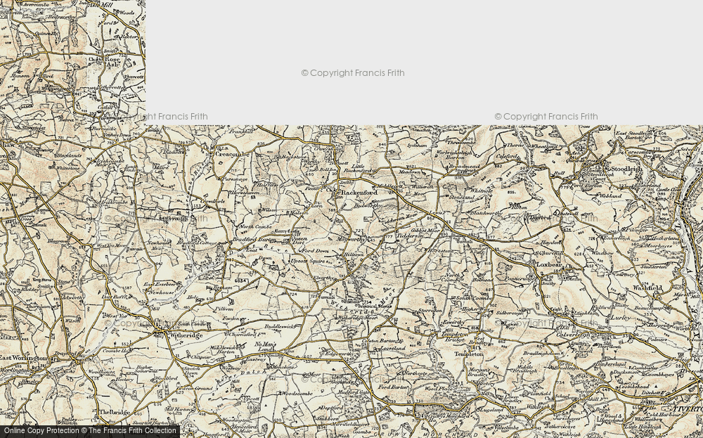Old Map of Historic Map covering Tidderson in 1899-1900