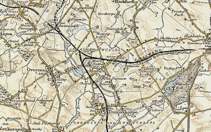 Old map of Ashby-de-la-Zouch Canal in 1902-1903