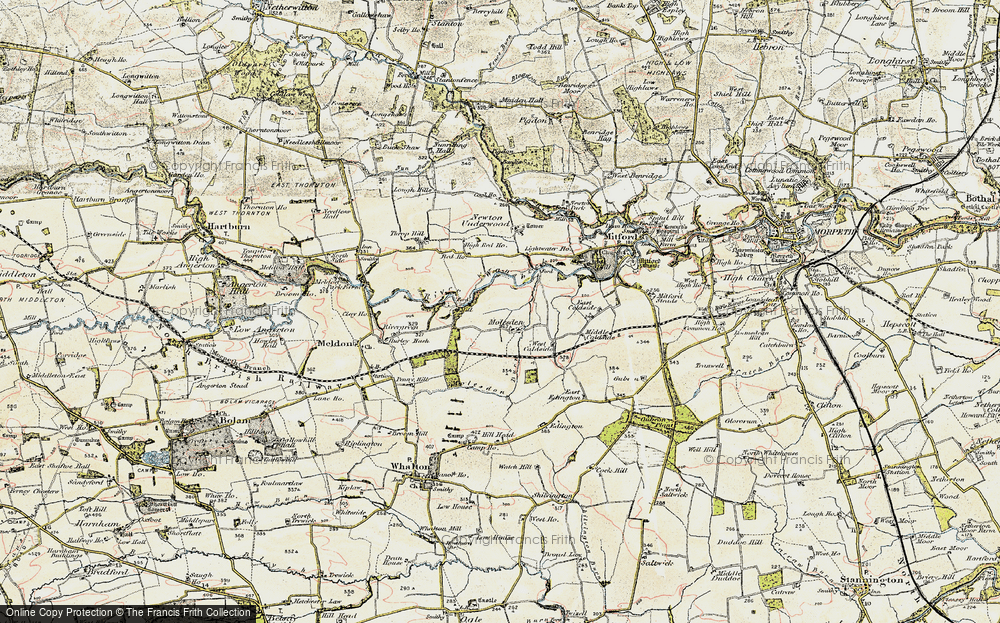 Old Map of Historic Map covering Lightwater Ho in 1901-1903