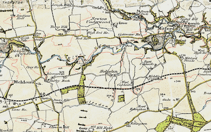 Old map of Lightwater Ho in 1901-1903