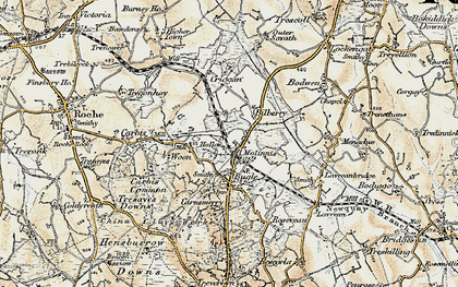 Old map of Molinnis in 1900