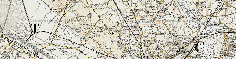 Old map of Willows, The in 1902-1903