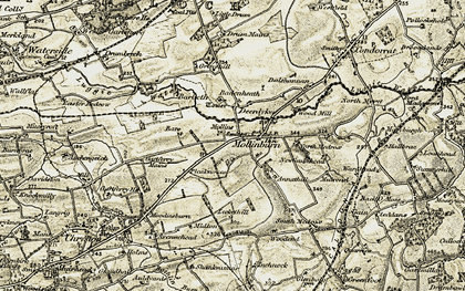 Old map of Annathill in 1904-1905