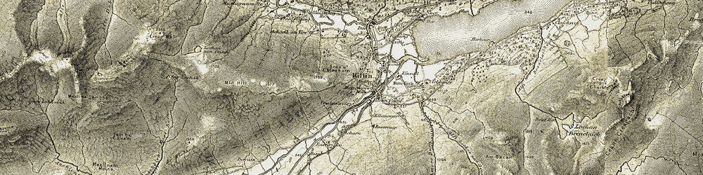 Old map of Tigh na Craig in 1906-1907
