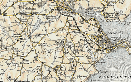 Old map of Mongleath in 1900