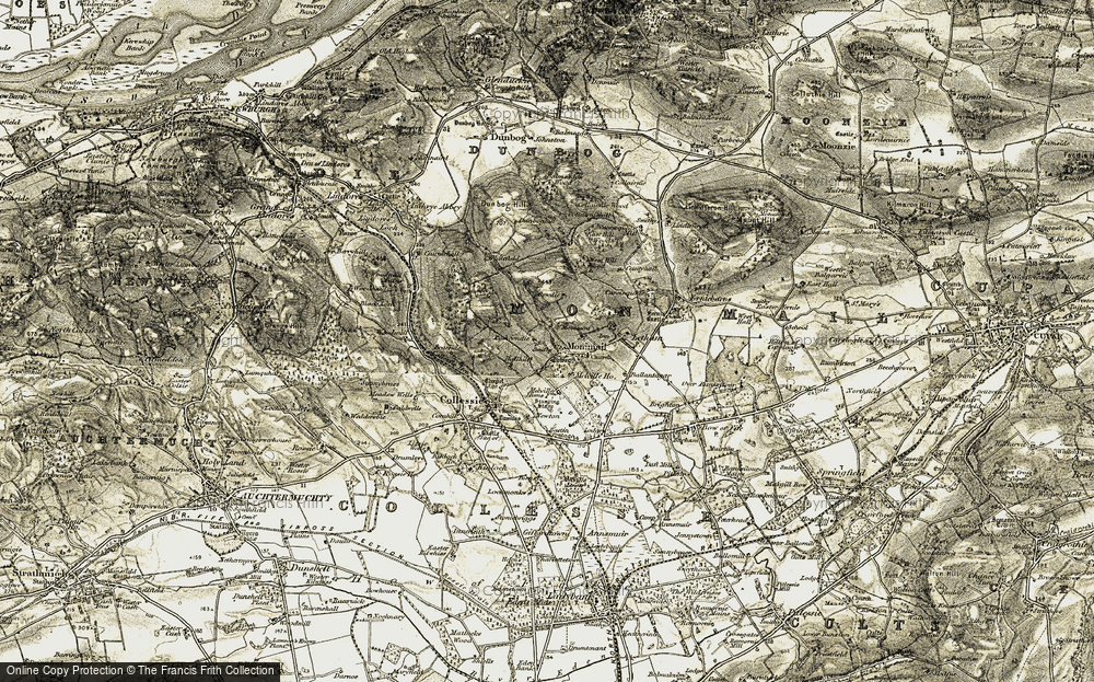 Old Map of Monimail, 1906-1908 in 1906-1908