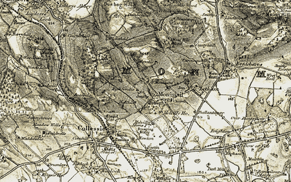 Old map of Whitefield in 1906-1908