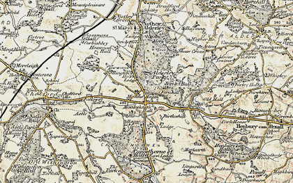 Old map of Alderley Park in 1902-1903