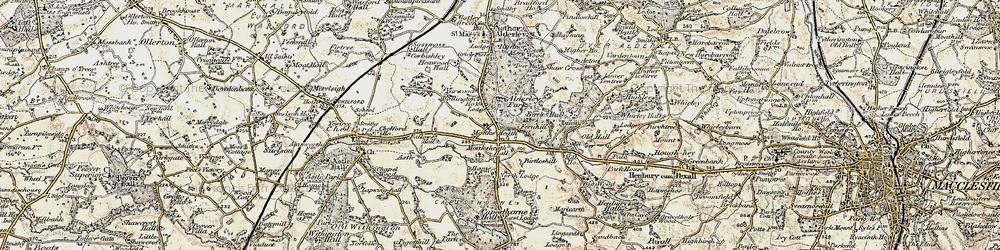Old map of Alderley Park in 1902-1903