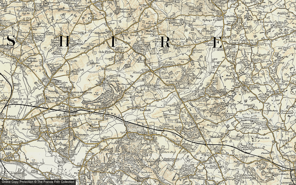 Old Map of Historic Map covering Woodmanton in 1899-1901