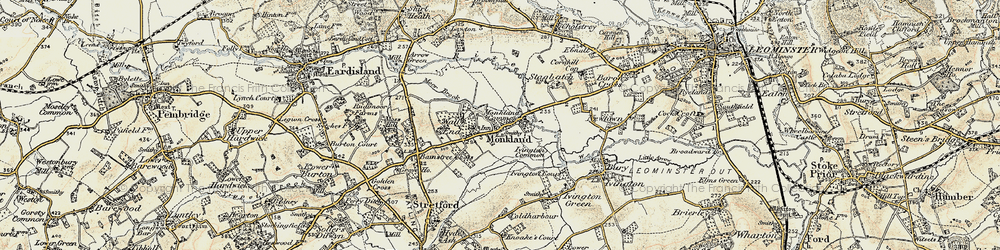 Old map of Monkland in 1900-1903