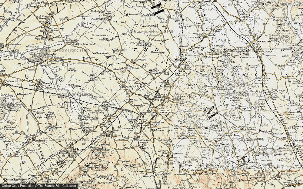Old Map of Monks Risborough, 1897-1898 in 1897-1898