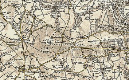Old map of Monkscross in 1899-1900