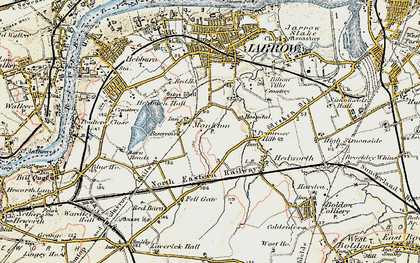 Old map of Monkton in 1901-1904