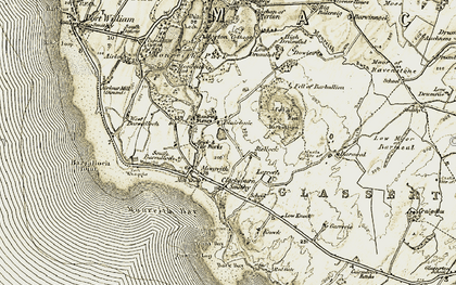 Old map of Larroch in 1905