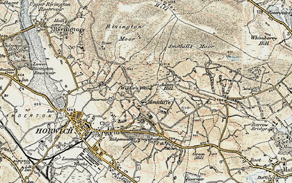 Old map of Adam Hill in 1903