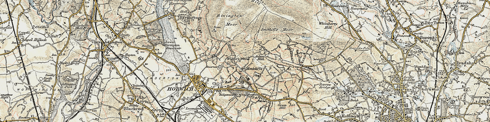 Old map of Winter Hill in 1903