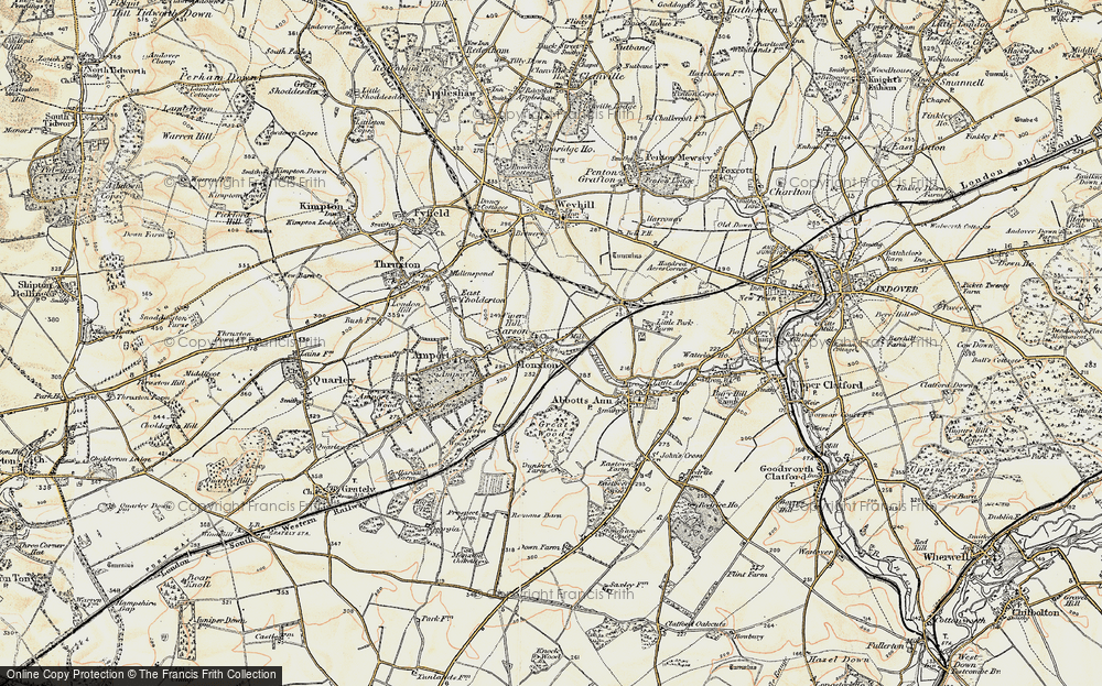 Old Map of Monxton, 1897-1900 in 1897-1900